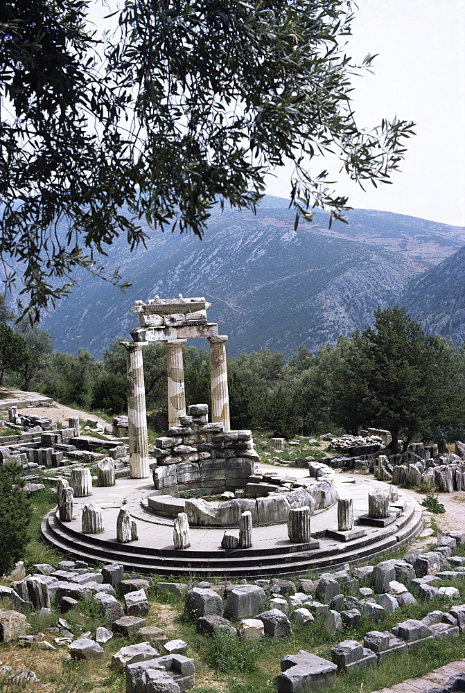 The Tholos, Delphi, UNESCO World Heritage Site, Greece, Europe