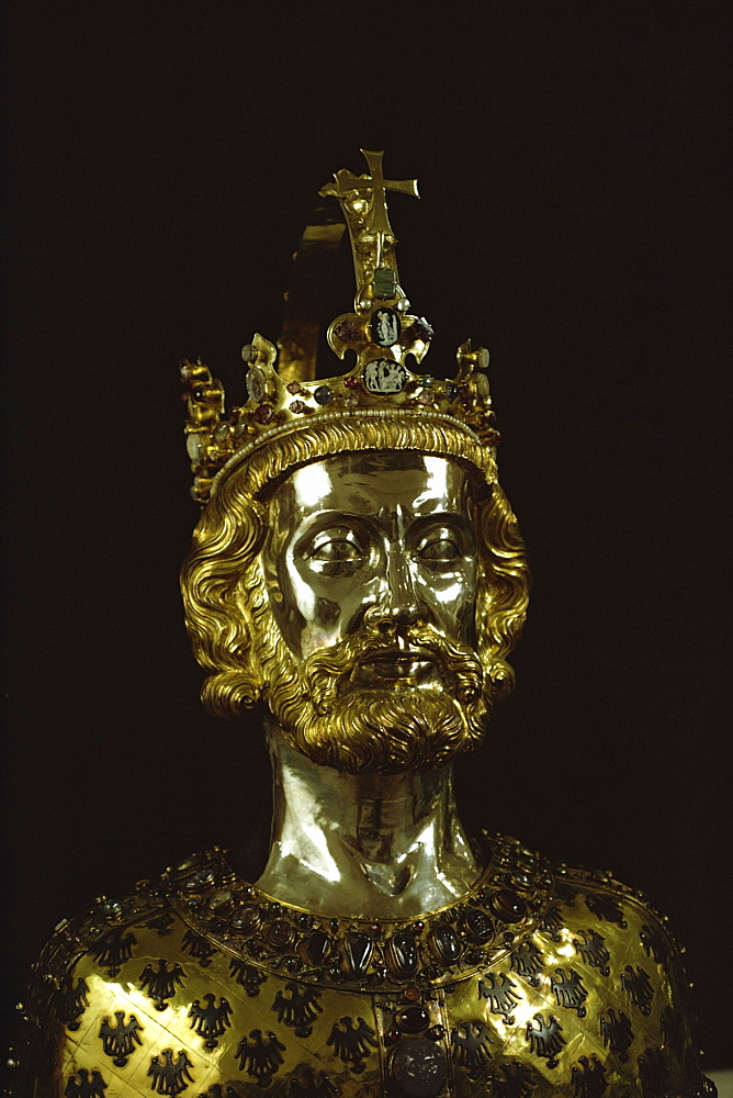 Charlemagne, dating from around 1350, Aachen, Germany, Europe - 76-3295