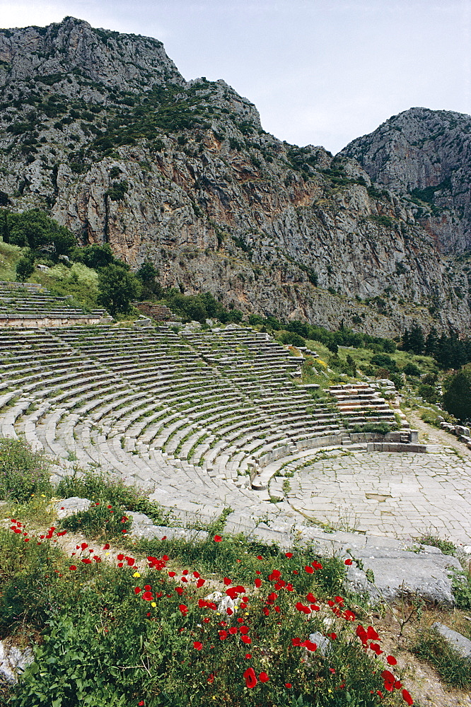 Theatre, Delphi, UNESCO World Heritage Site, Greece, Europe