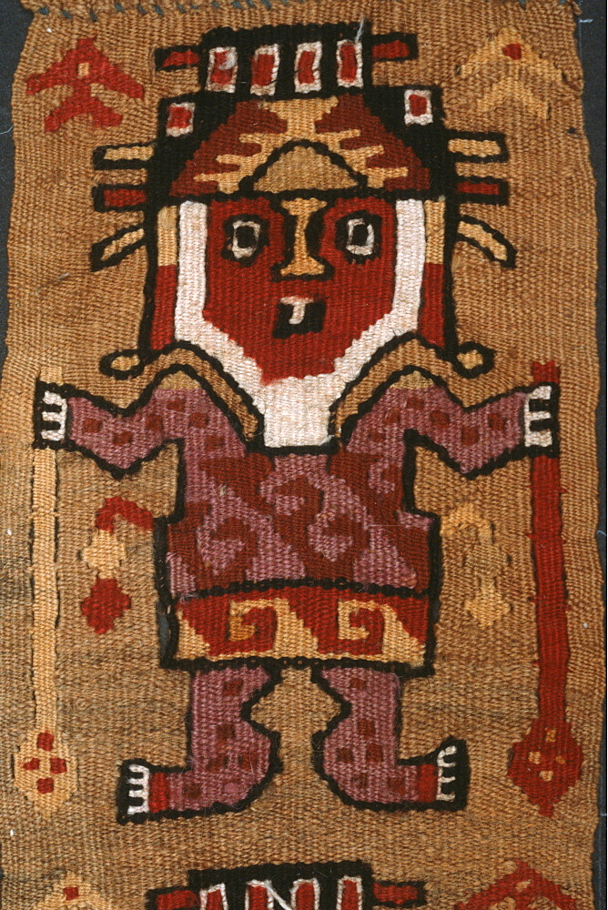 Chancay Culture, 13C AD the Inca God 'Wiracocha' holding the symbols of his power in the collection of the Museo Amano, Lima, Peru