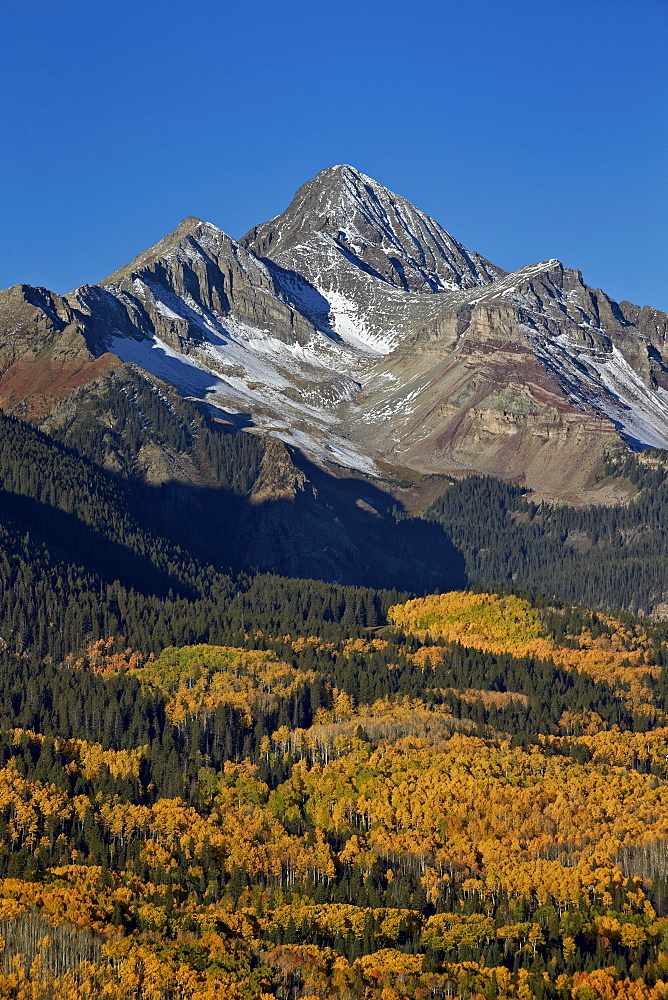 Wilson Peak in the fall, San Juan National Forest, Colorado, USA