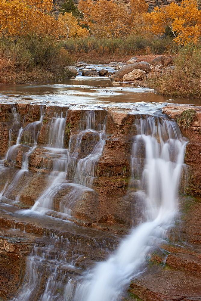 Secret Falls in the fall, Washington County, Utah, United States of America, North America