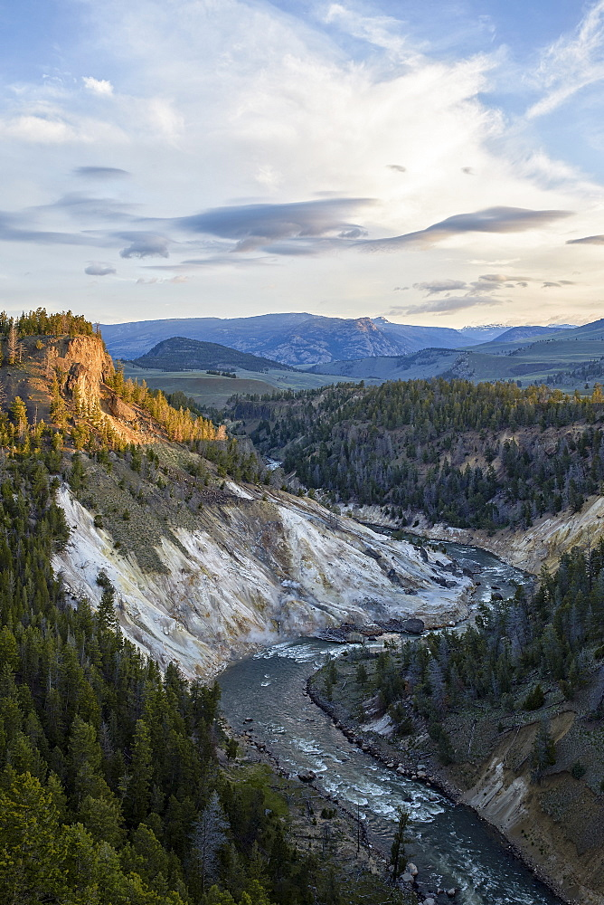 Yellowstone River near Calcite Springs, Yellowstone National Park, UNESCO World Heritage Site, Wyoming, United States of America, North America