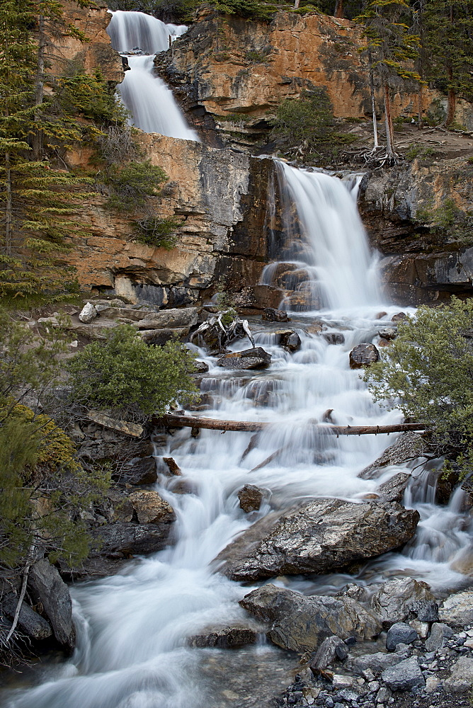 Tangle Falls, Jasper National Park, UNESCO World Heritage Site, Alberta, Canada, North America