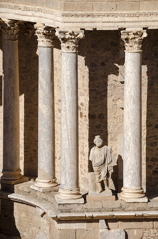 Roman Theater, Merida, UNESCO World Heritage Site, Badajoz, Extremadura, Spain, Europe