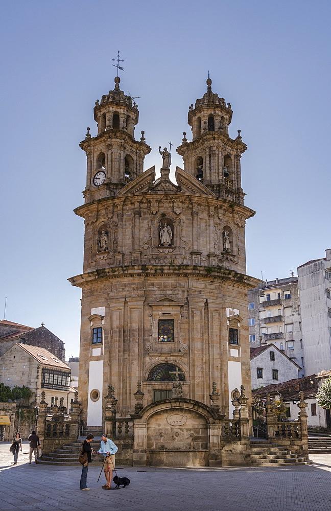 The Chapel of the Pilgrims on the Camino de Santiago in Pontevedra, Pontevedra, Galicia, Spain, Europe