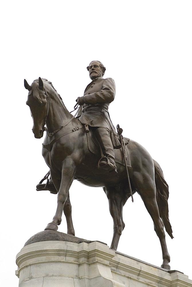 Lee statue, Monument Avenue, Richmond, Virginia, United States of America, North America