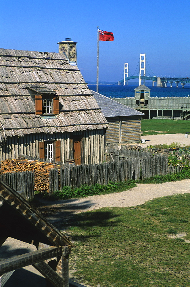 Colonial Michilimackinac, Mackinaw City, Michigan, United States of America, North America