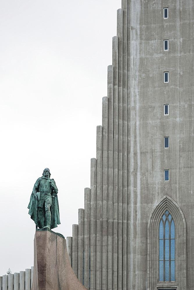 Hallgrimskirkja Lutheran parish church, Reykjavik, Iceland, Polar Regions