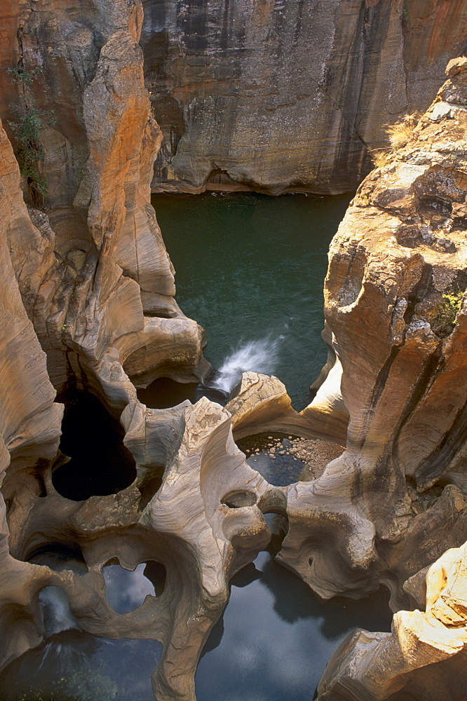 Bourke's Luck Potholes, created by river erosion, Blyde River Canyon, Mpumalanga, South Africa, Africa - 770-1706