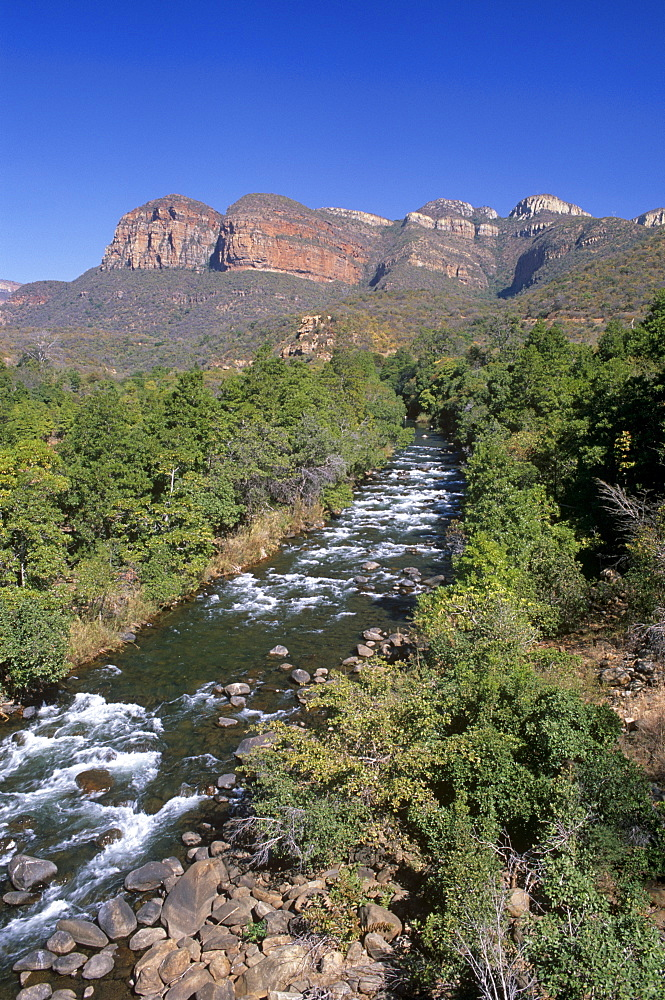 River flowing under the Great Escarpment in the Mpumalanga region, South Africa, Africa - 770-1708