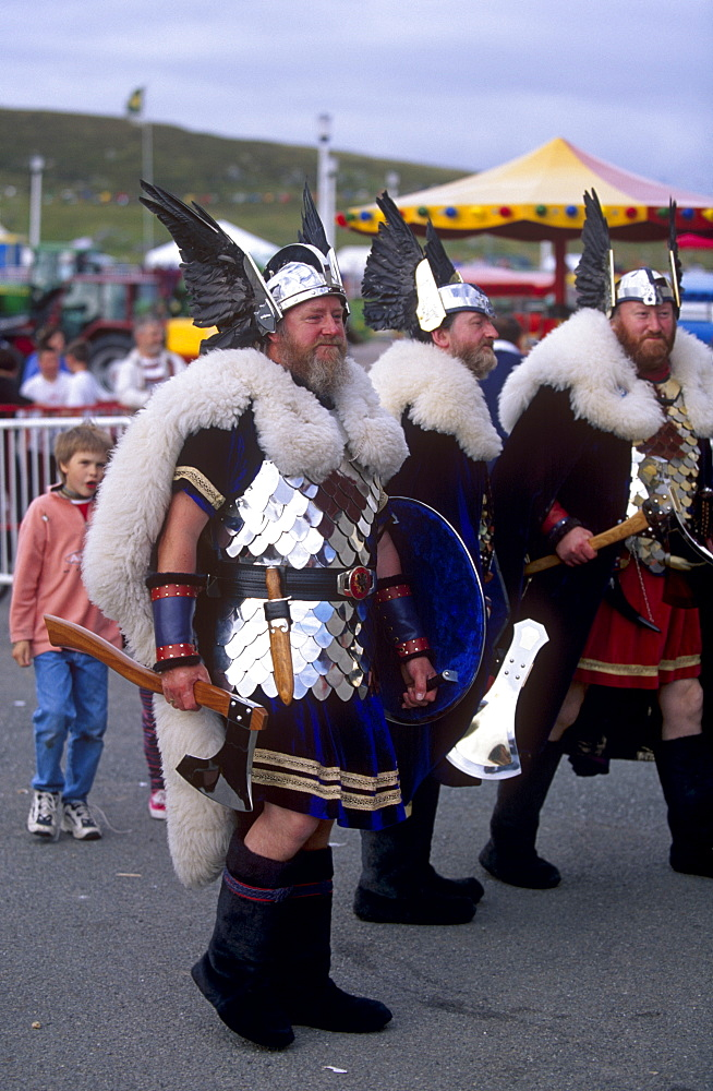 Viking squadron, Lerwick, Mainland, Shetland Islands, Scotland, United Kingdom, Europe *** Local Caption *** The islanders are pround of their Norse ancestry.