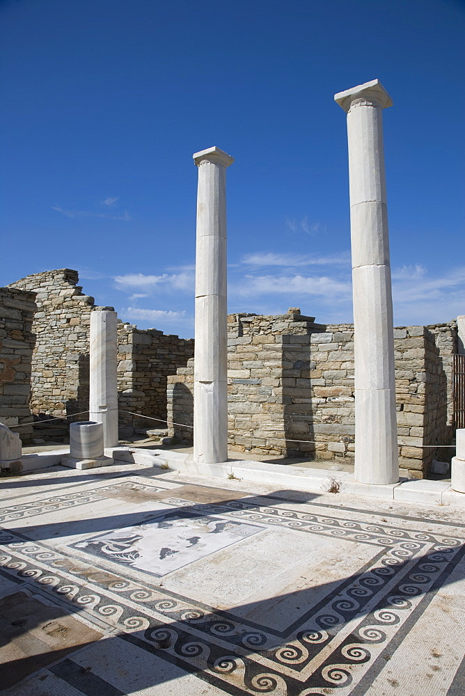 House of Dionysos, island of Delos, UNESCO World Heritage Site, Cyclades, Greek Islands, Greece, Europe