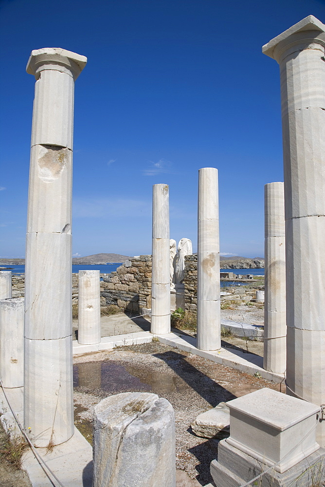House of Cleopatra and Dioskuridis, island of Delos, UNESCO World Heritage Site, Cyclades, Greek Islands, Greece, Europe