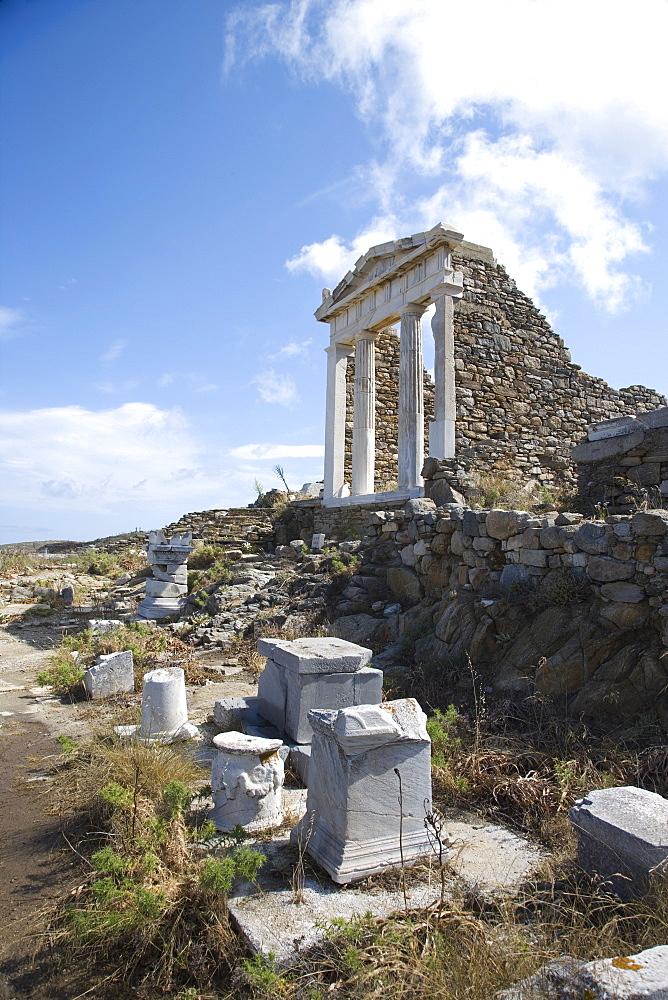 Temple of Isis, Island of Delos, Cyclades, Greek Islands, Greece, Europe