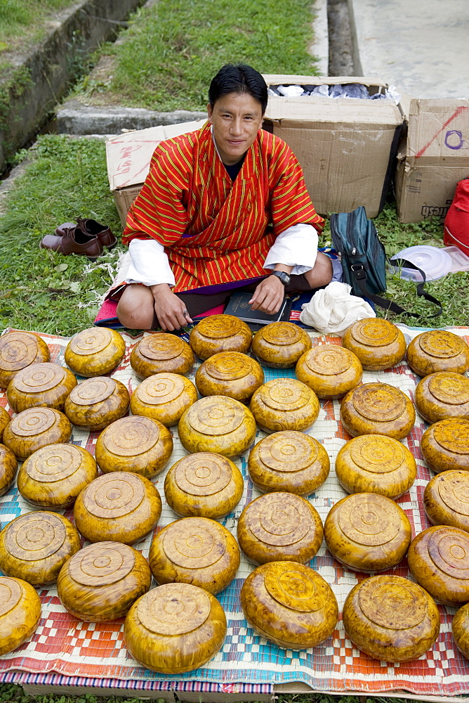 Market during Buddhist festival (Tsechu), Thimphu, Bhutan, Asia - 772-197