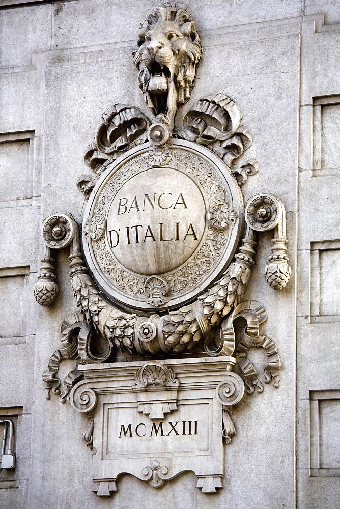 Banca d'Italia, Milan, Lombardy, Italy, Europe