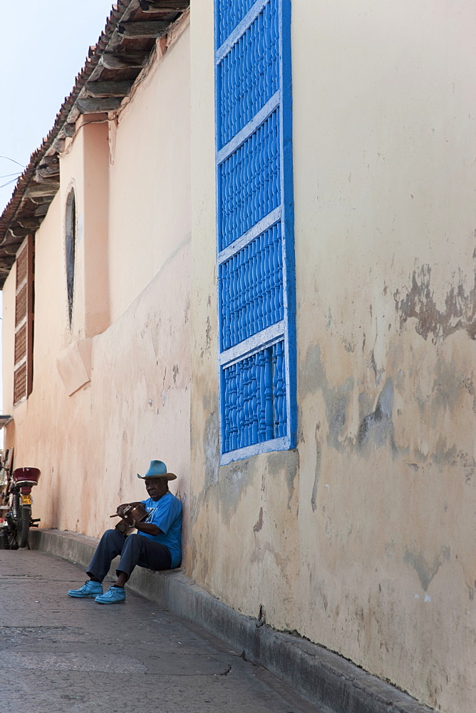 Guitar player, Santiago de Cuba, Cuba, West Indies, Central America