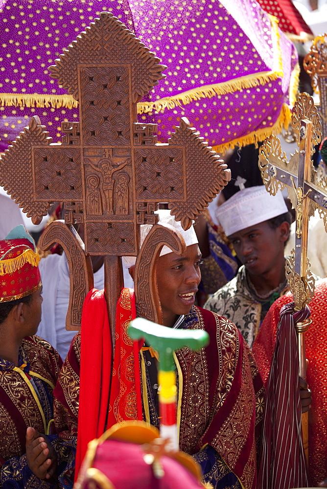 Timkat festival, Gondar, Ethiopia, Africa - 772-2759