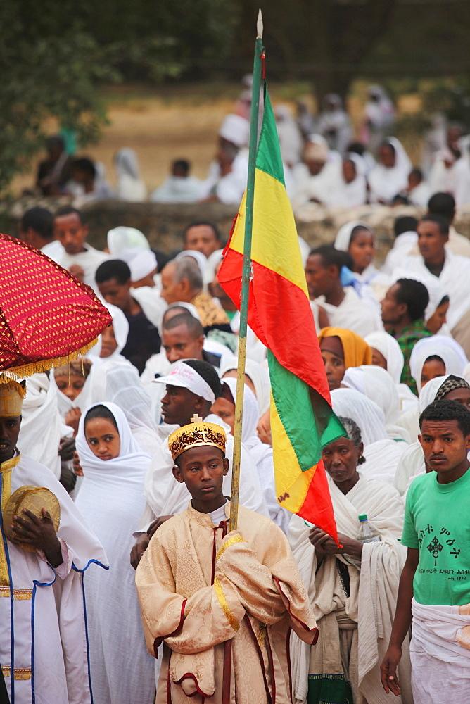Timkat festival, Gondar, Ethiopia, Africa - 772-2765