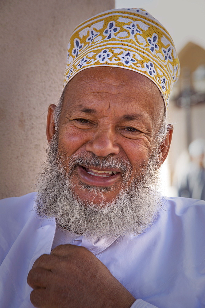 Arab man in the Souk of Nizwa, Oman, Middle East