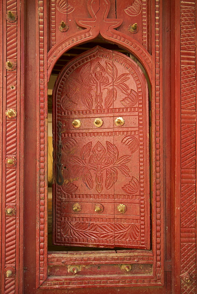 Old traditional door, Wadi Bani Khalid, Oman, Middle East