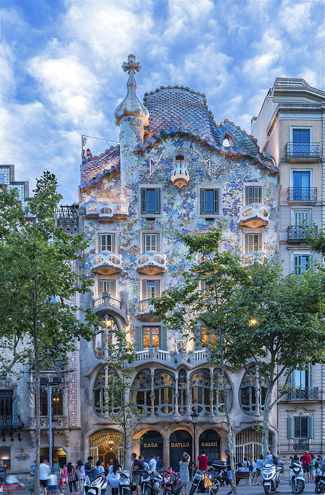 Casa Batllo, UNESCO World Heritage Site, Barcelona, Catalonia, Spain, Europe - 772-3699