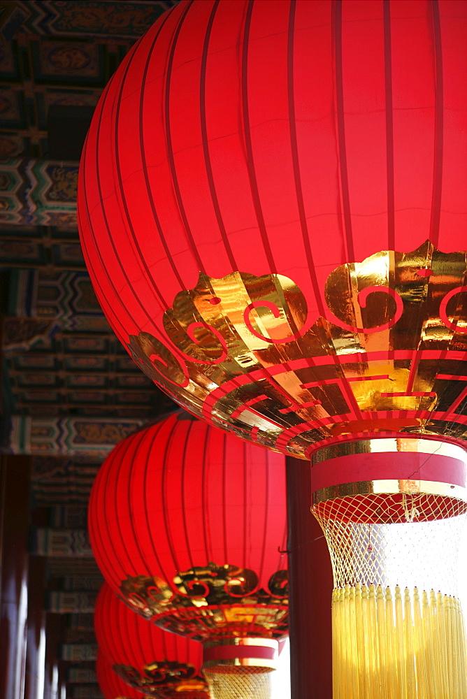 Lanterns, The Forbidden City, Beijing (Peking), China, Asia