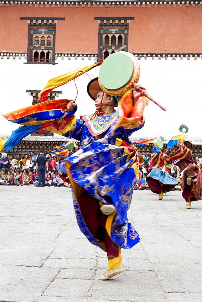 Buddhist festival (Tsechu), Trashi Chhoe Dzong, Thimphu, Bhutan, Asia - 772-92