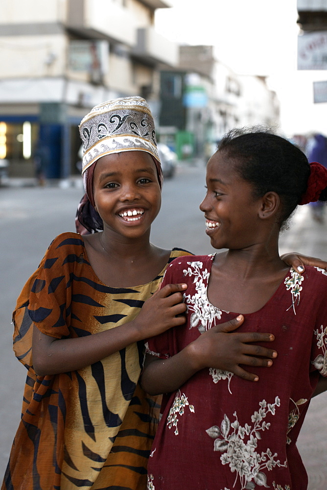 Children on the streets of Djibouti City, Djibouti, Africa