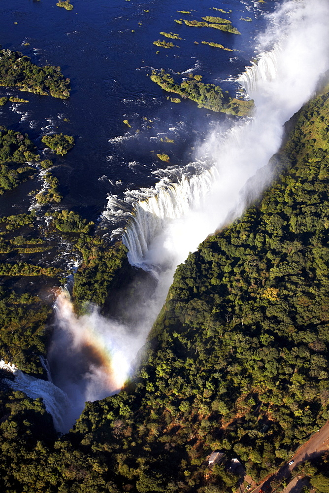 Victoria Falls, on the border of Zambia and Zimbabwe, UNESCO World Heritage Site, Africa