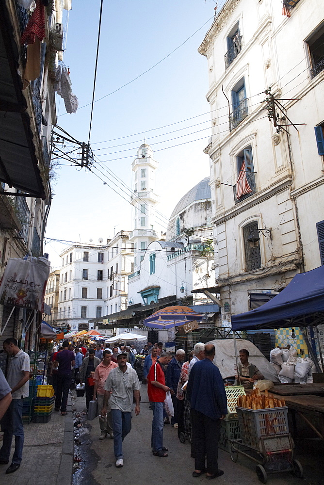 Market stalls in the Casbah, Algiers, Algeria, North Africa, Africa