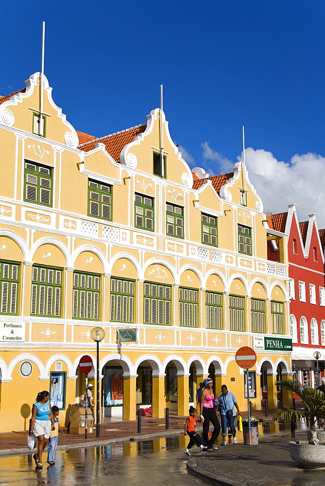Penha Building, Punda District, Willemstad, UNESCO World Heritage Site, Curacao, Netherlands Antilles, West Indies, Caribbean, Central America - 776-104