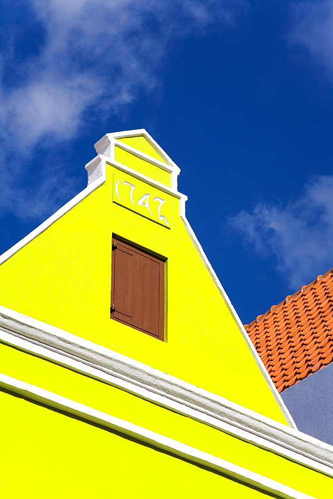 Architecture on Breedestraat, Punda District, Willemstad, Curacao, Netherlands Antilles, West Indies, Caribbean, Central America
