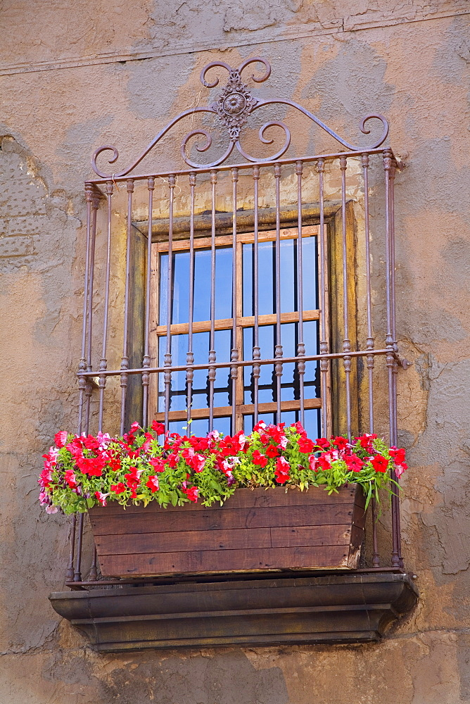 Window detail, Ensenada City, Baja California, Mexico, North America