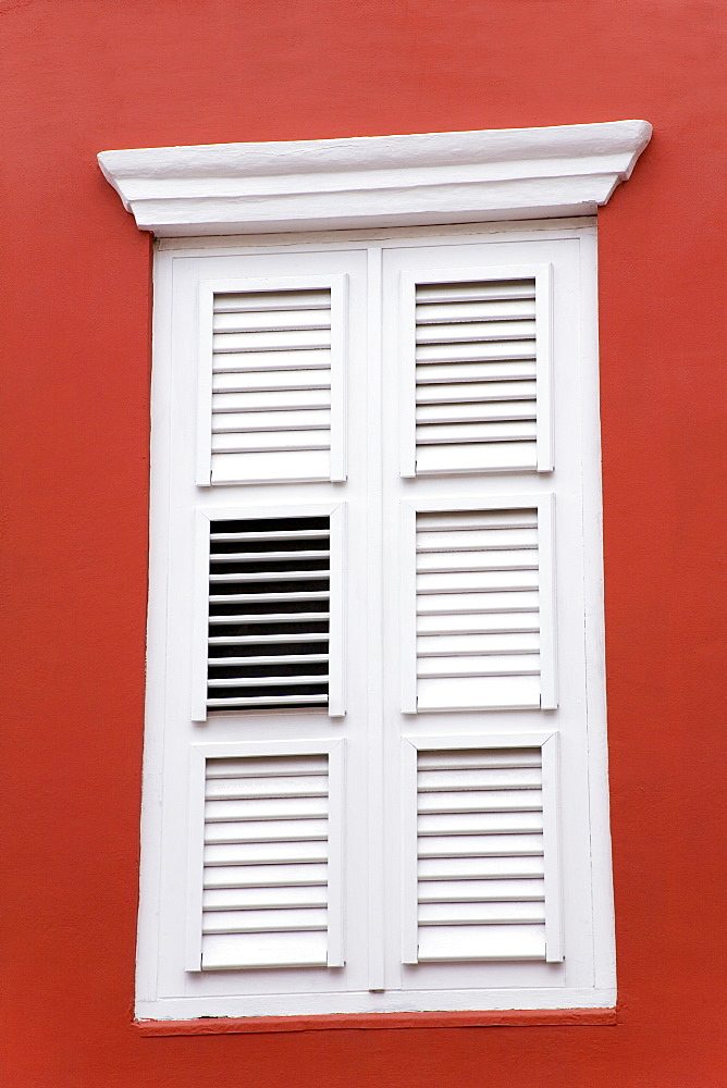 Window shutters, Punda District, Willemstad, Curacao, Netherlands Antilles, West Indies, Caribbean, Central America