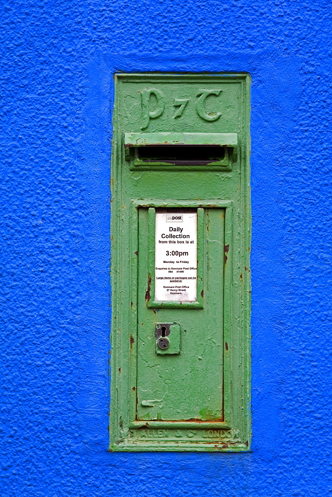Post box in Kenmare Town, County Kerry, Munster, Republic of Ireland, Europe