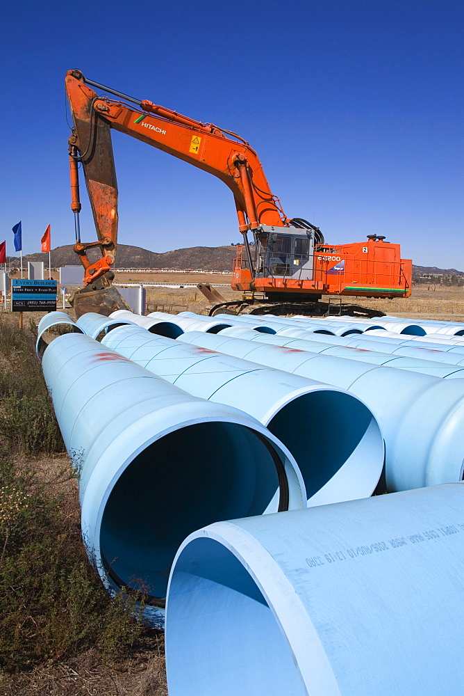 Pipe laying, Temecula Valley, Southern California, United States of America, North America