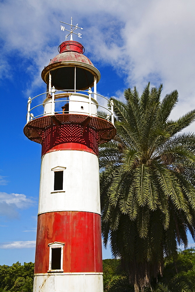 Old lighthouse, Deep Water Harbour, St. Johns, Antigua Island, Lesser Antilles, West Indies, Caribbean, Central America