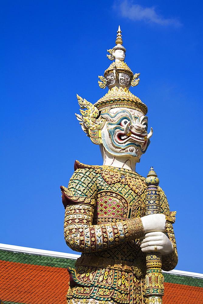 Sahassadeja statue at Royal Grand Palace, Rattanakosin District, Bangkok, Thailand, Southeast Asia, Asia