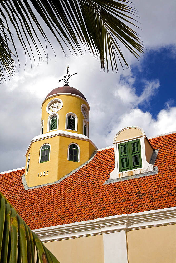 Fort Church in Fort Amsterdam, Punda District, Willemstad, UNESCO World Heritage Site, Curacao, Netherlands Antilles, West Indies, Caribbean, Central America