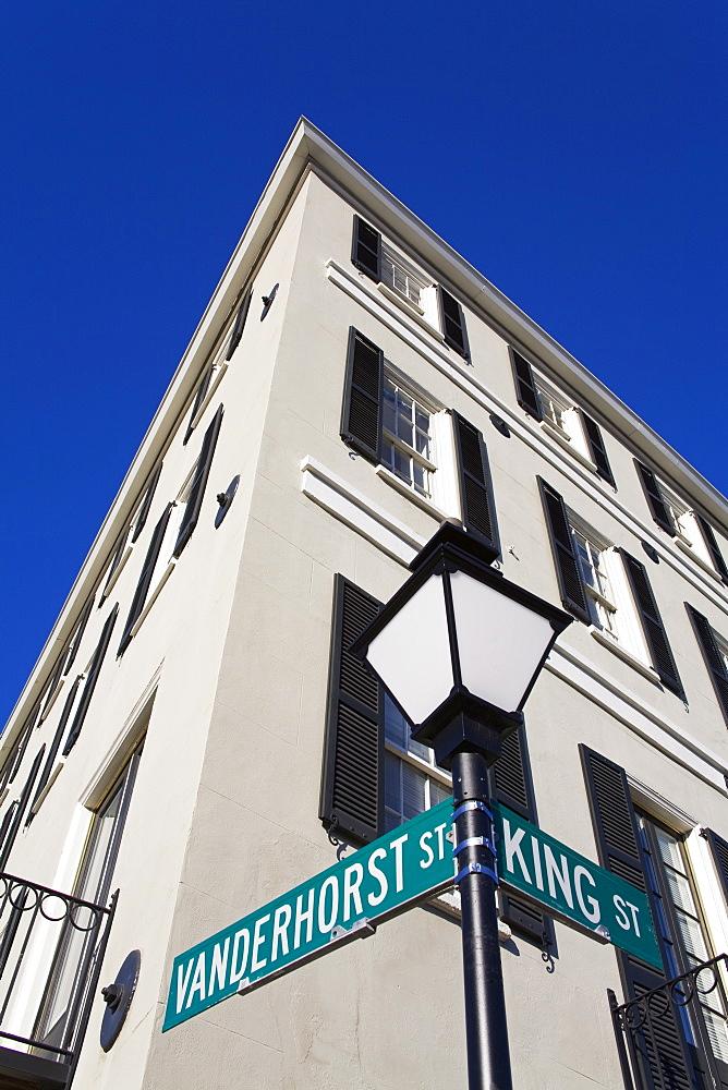 Building on King Street, Charleston, South Carolina, United States of America, North America