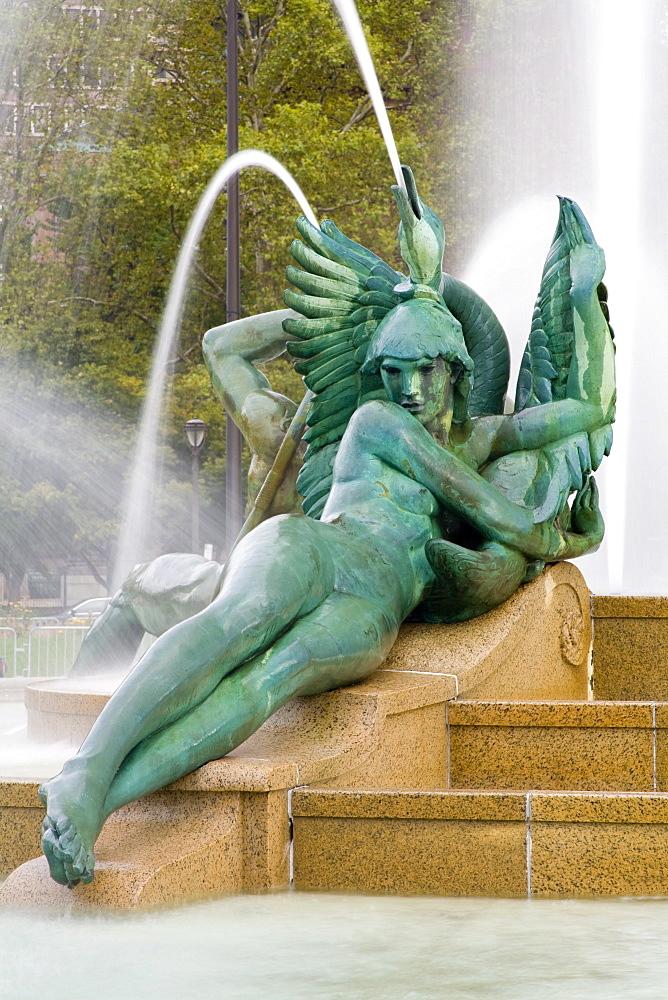 Logan Square Fountain, Parkway Museum District, Philadelphia, Pennsylvania, United States of America, North America