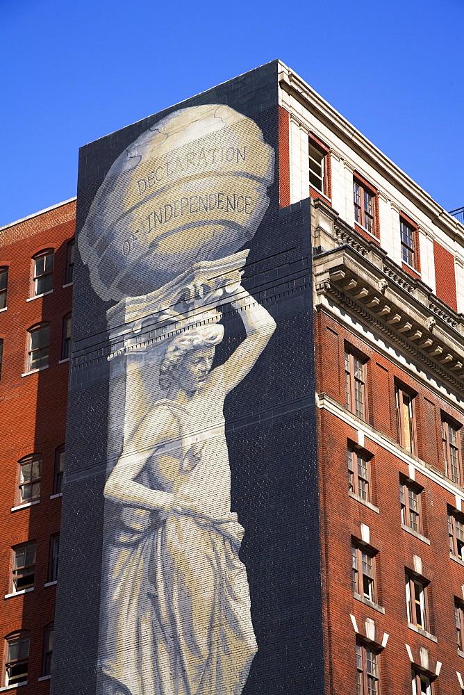Mural on Arch Street, Philadelphia, Pennsylvania, United States of America, North America