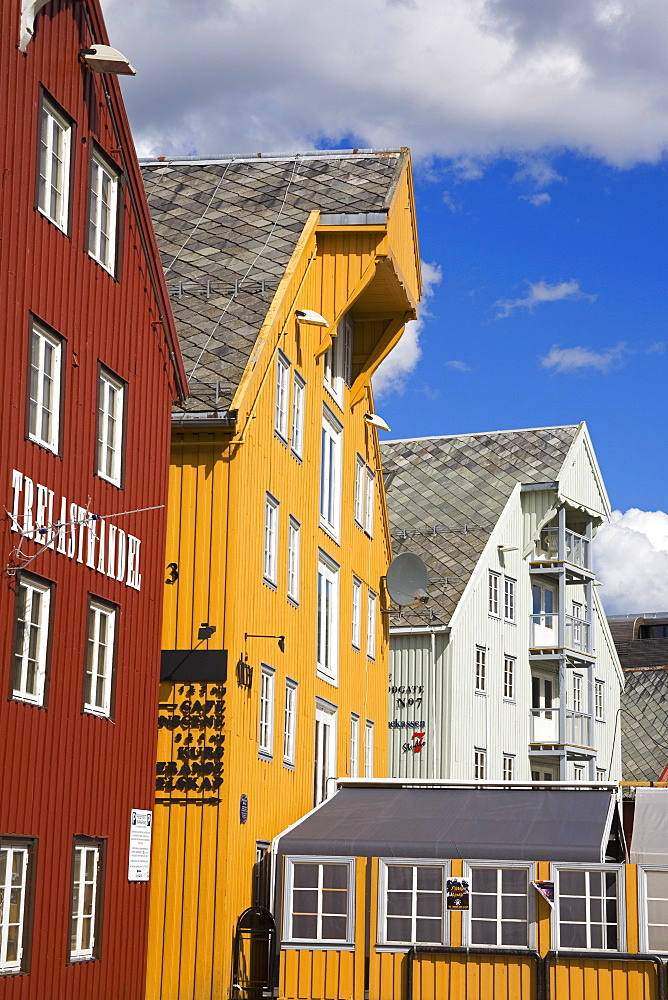 Warehouses on Skansen Dockks, Tromso City, Troms County, Norway, Scandinavia, Europe - 776-1799
