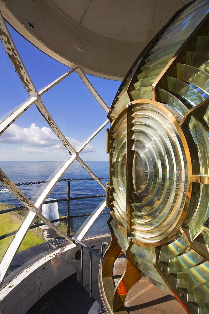 Point Vincente Lighthouse lens, Palos Verdes Peninsula, Los Angeles, California, United States of America, North America
