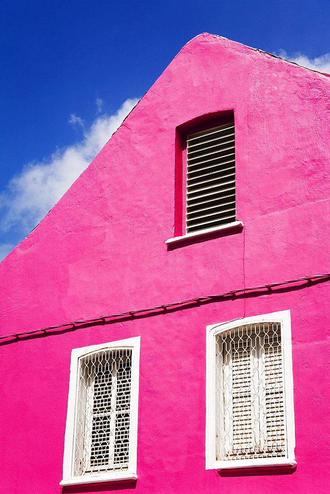 Pink building on Republique Street, Fort-de-France, Martinique, French Antilles, West Indies, Caribbean, Central America