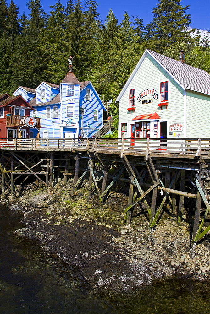 Creek Street historical district, Ketchikan, Southeast Alaska, United States of America, North America
