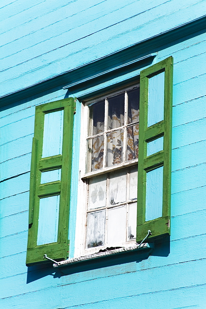 Window shutters, St. Johns City, Antigua Island, Antigua and Barbuda, Lesser Antilles, West Indies, Caribbean, Central America
