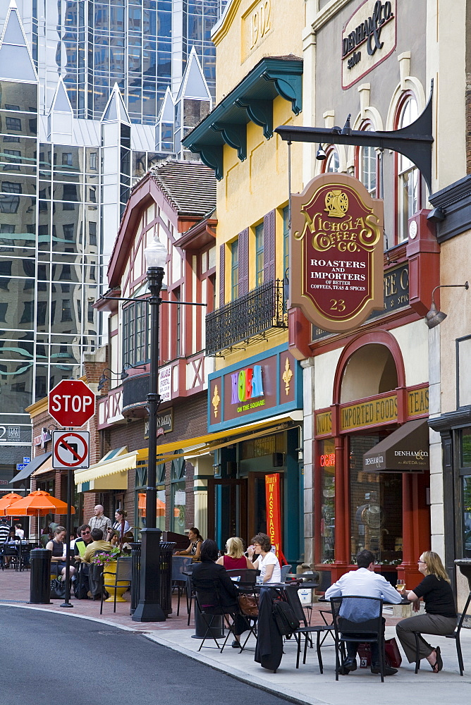 Restaurants on Market Square, Pittsburgh, Pennsylvania, United States of America, North America